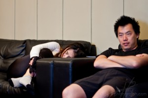 Elissa, exhausted (with Chi Ken)